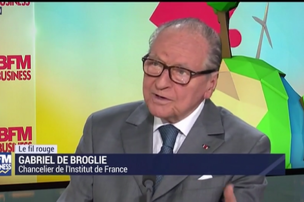BFM Business | 24/06 | A but non lucratif reçoit Gabriel de Broglie, Institut de France